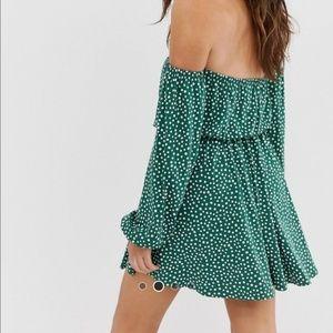 ASOS OTS Green Polka Dot Dress